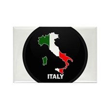 Flag Map of Italy Rectangle Magnet