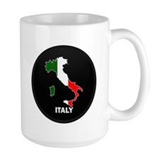 Flag Map of Italy Mug