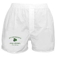 New Jersey pub crawl Boxer Shorts