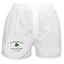 Cincinnati pub crawl Boxer Shorts