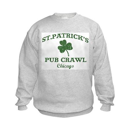 Chicago pub crawl Kids Sweatshirt