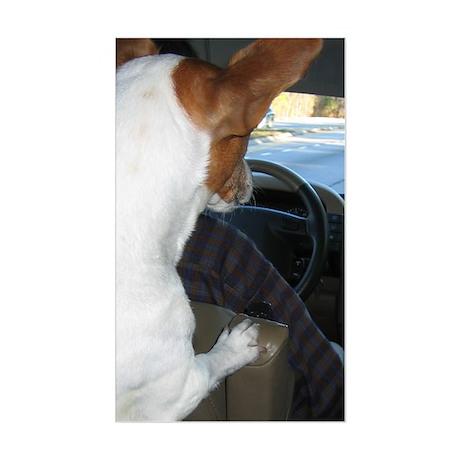 JRT Back Seat Driver Rectangle Sticker