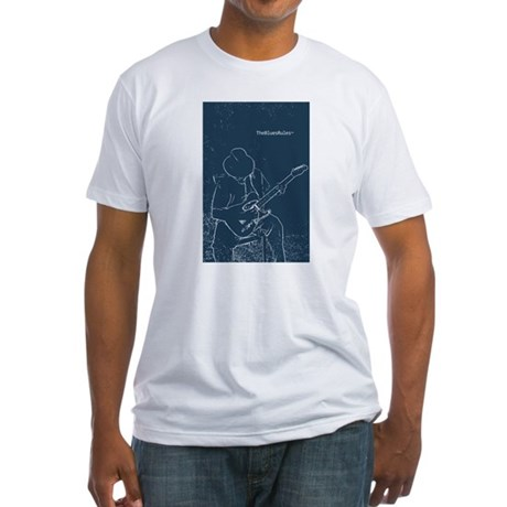 Solitary Blues Fitted T-Shirt