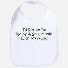 Snowmobile With My Aunt Bib
