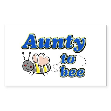 Aunty to bee Rectangle Sticker