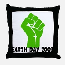 Earth Day green power Throw Pillow