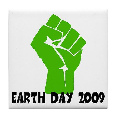 Earth Day green power Tile Coaster