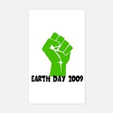 Earth Day green power Rectangle Decal