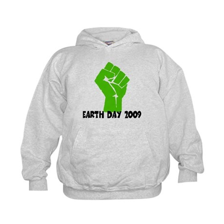 Earth Day green power Kids Hoodie