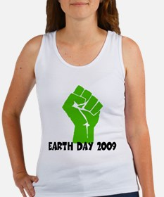Earth Day green power Women's Tank Top
