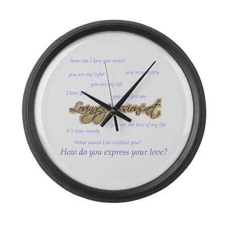 Expressions Large Wall Clock