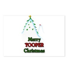 Merry Yooper Christmas Postcards (Package of 8)