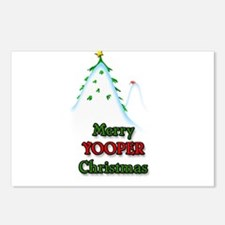 Merry Yooper Christmas Postcards (Package of 8)