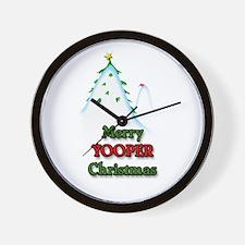Merry Yooper Christmas Wall Clock