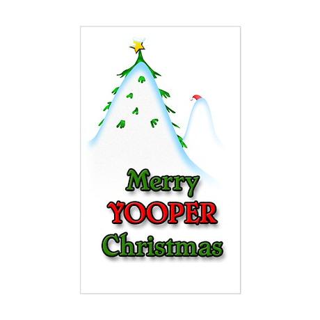 Merry Yooper Christmas Rectangle Sticker