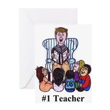 Male Elementary School Teacher Greeting Card