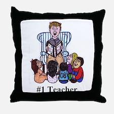 Male Elementary School Teacher Throw Pillow