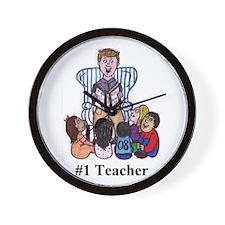 Male Elementary School Teacher Wall Clock