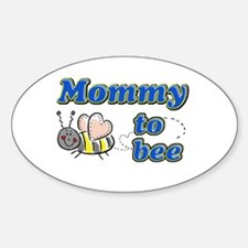 Mommy to bee Oval Decal