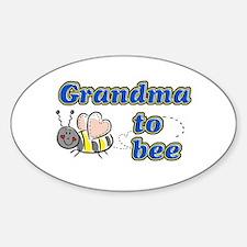 Grandma to bee Oval Decal
