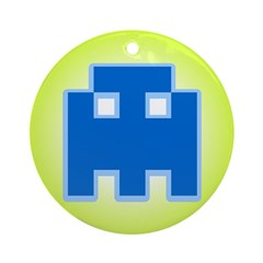 Invader of Space Ornament (Round)