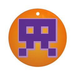 Spaced Invader Ornament (Round)