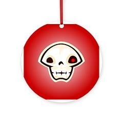 Red Skull Ornament (Round)