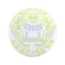 "Tribal Inca Da Vinci 3.5"" Button"
