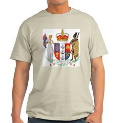New Zealand Coat Of Arms Ash Grey T-Shirt