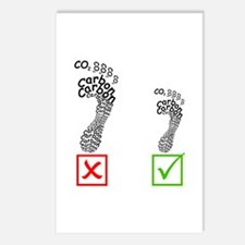 Small carbon footprint Postcards (Package of 8)