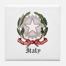 Italian Coat of Arms Seal Tile Coaster
