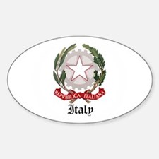 Italian Coat of Arms Seal Oval Decal