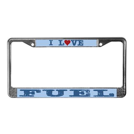 I Love Fuel License Plate Frame
