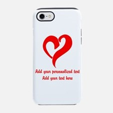 Red Heart Personalized iPhone 7 Tough Case