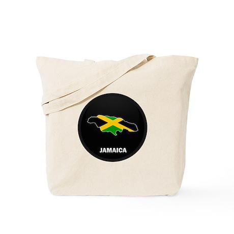 Flag Map of Jamaica Tote Bag