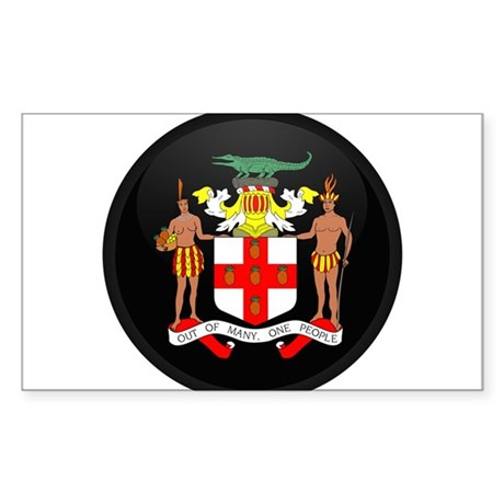 Coat of Arms of Jamaica Rectangle Sticker