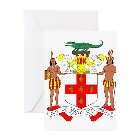 Jamaica Coat of Arms Greeting Card