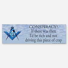 Conspiracy? Masonic Bumper Bumper Bumper Sticker