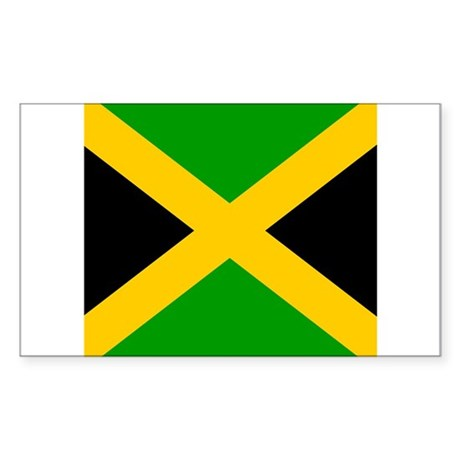 Jamaican Rectangle Sticker