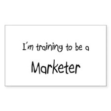 I'm training to be a Marketer Rectangle Decal