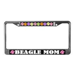 Cute Beagle Mom License Frame