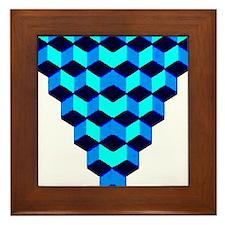 Stacked Cubes Framed Tile