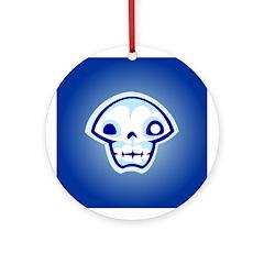 Blue Skull Ornament (Round)