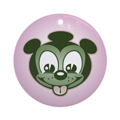 Snacky Pup Ornament (Round)