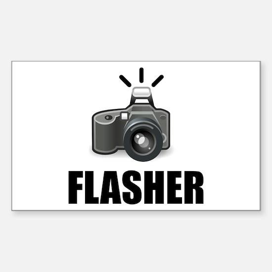 Flasher Camera Photographer Decal