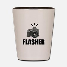 Flasher Camera Photographer Shot Glass