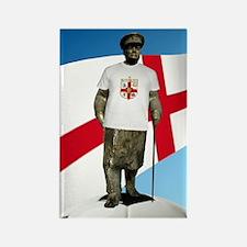 Churchill England Soccer Rectangle Magnet