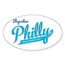 Philly Staycation Oval Sticker