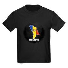Flag Map of Moldova T
