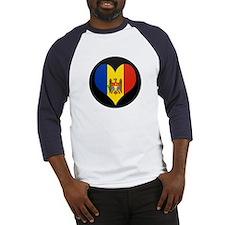 I love Moldova Flag Baseball Jersey